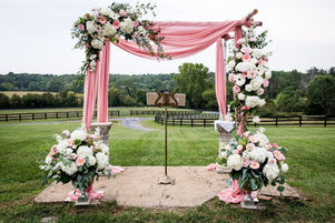 A stunning floral arbor for a wedding ceremony