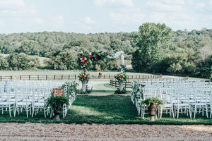 Red and Green ceremony decor