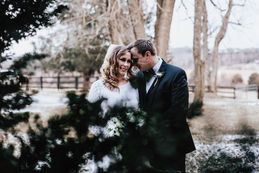 A winter wedding with snow