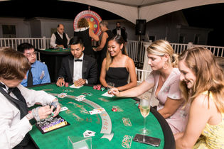 Blackjack, casino night on our rooftop