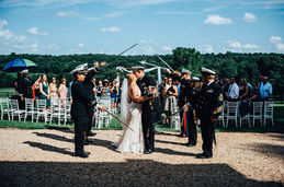 Sword Arch at a Wedding