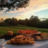wedding brunch on patio, sunset, classic, mounain views, sunset, wedding venue elegant in northern virginia