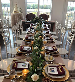 The Rixey Manor Ballroom set for a wedding