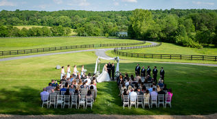 A 70 person wedding ceremony