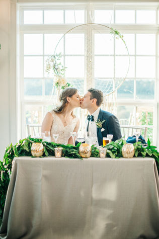 Sweetheart table with dreamcatcher