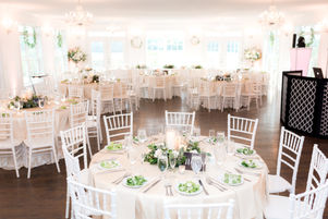 A simple wedding reception set up