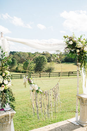 Dreamcatcher ceremony decor