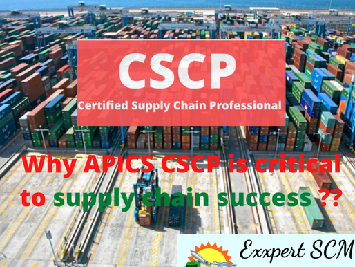 Why APICS CSCP is critical to supply chain success