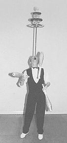 Ralph Leslie The Piccadilly Circus co. Ballancing wine glasses and juggling 1998