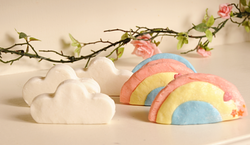 clouds and rainbows bubblebars