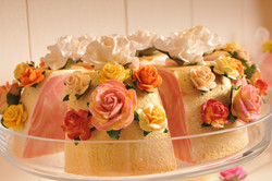 Golden strawberry soap favours