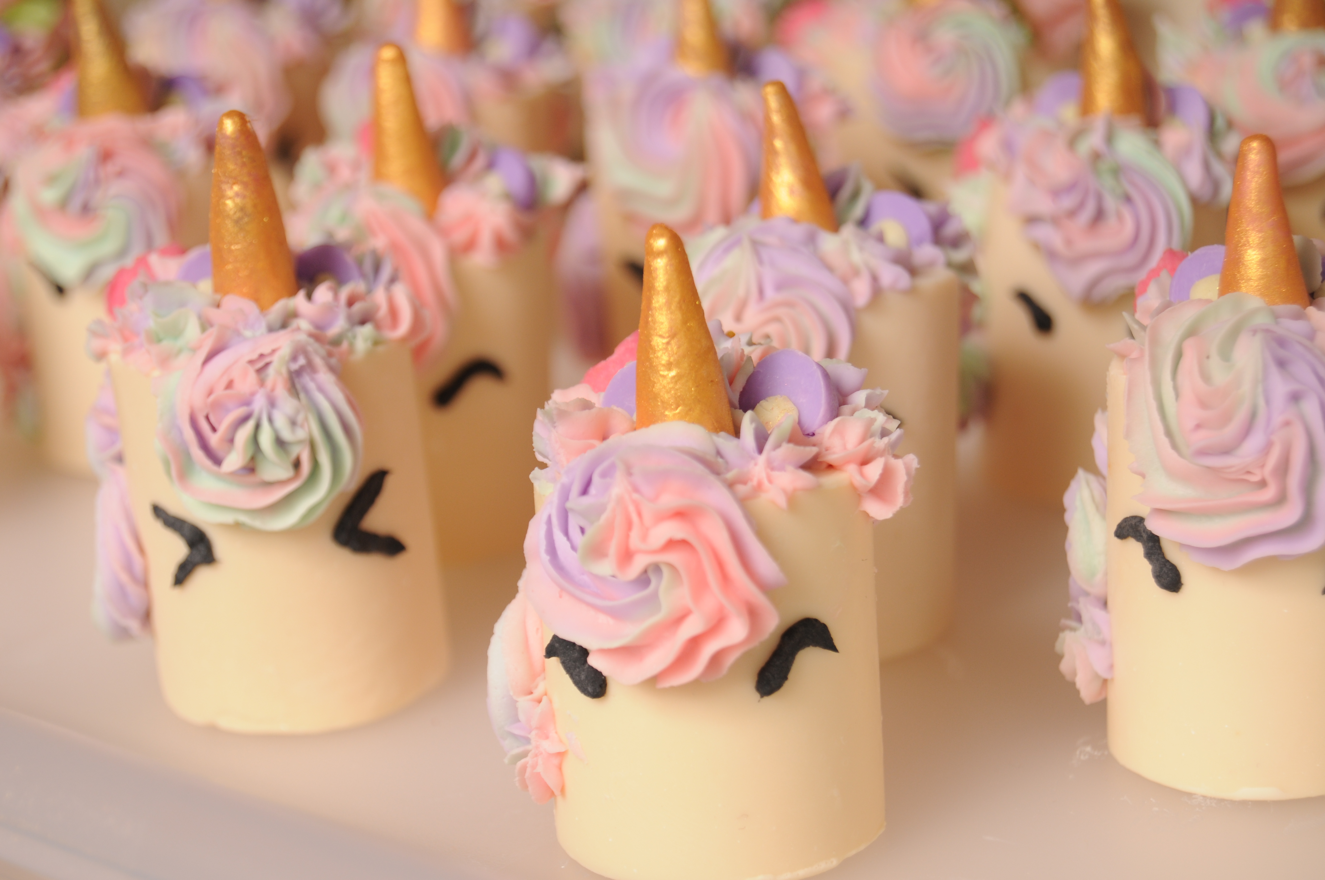 mini unicorn soap cakes
