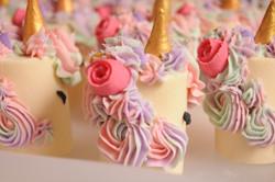 Little Miss unicorn soap cakes