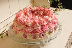 Rose Pavlova soap cake