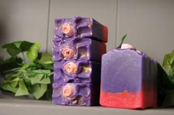rose and violet soap