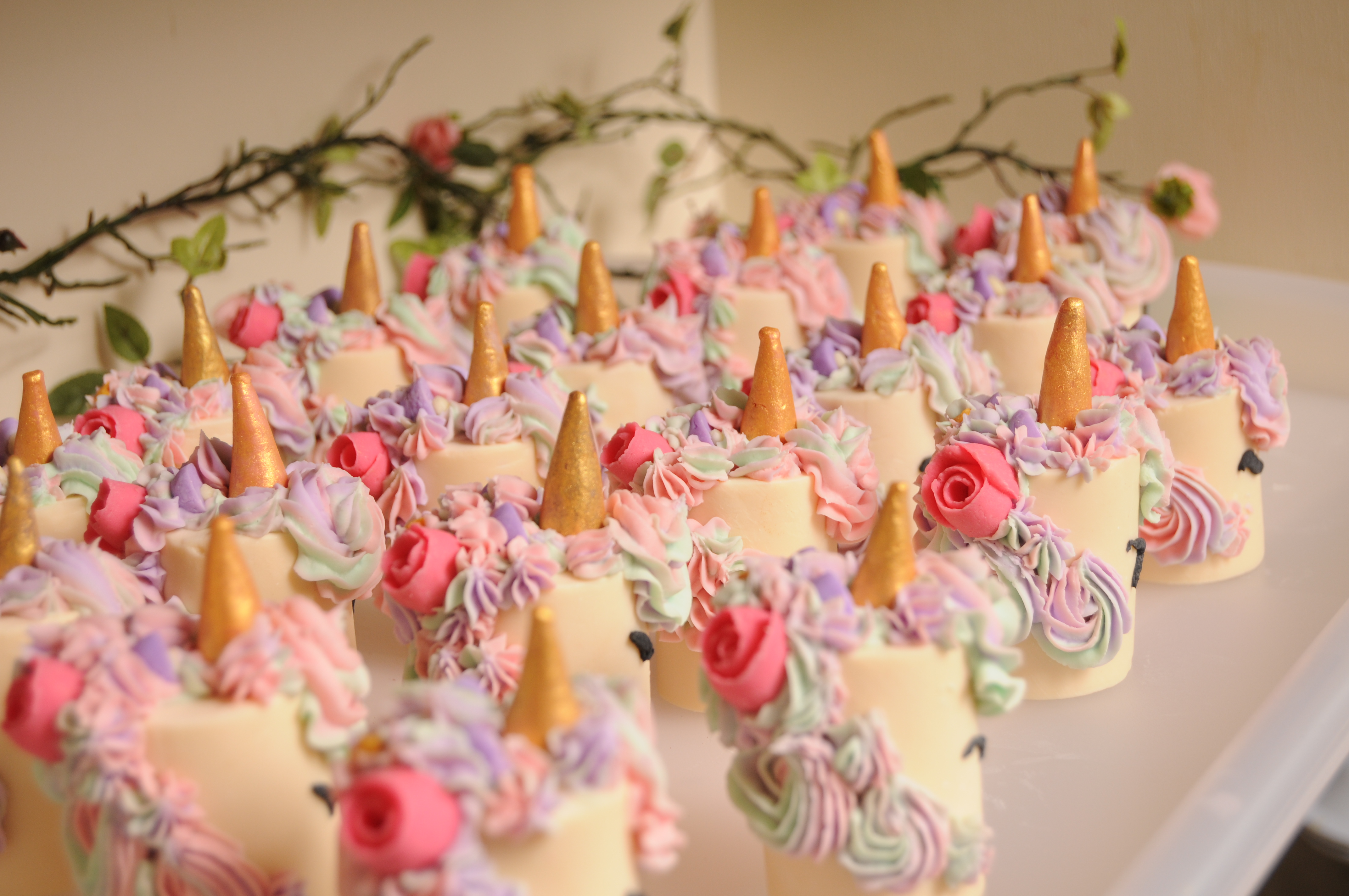 Little Miss unicorn soap cakes