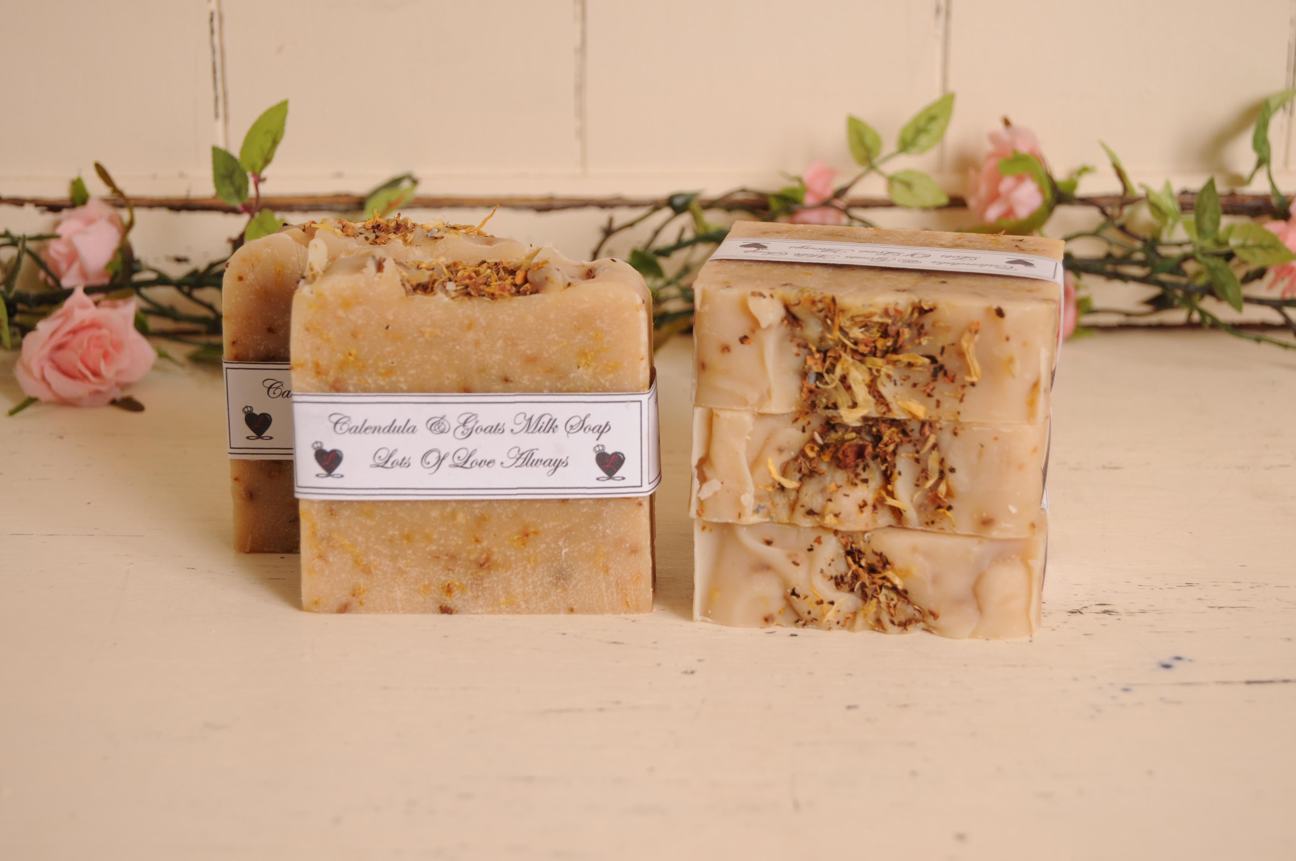goats milk and Calendula soap