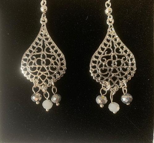 3 Pearl Drop Earrings