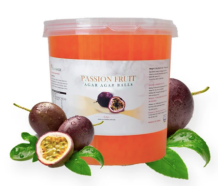 Passionfruit Popping Pearls (3.2kg-tub)