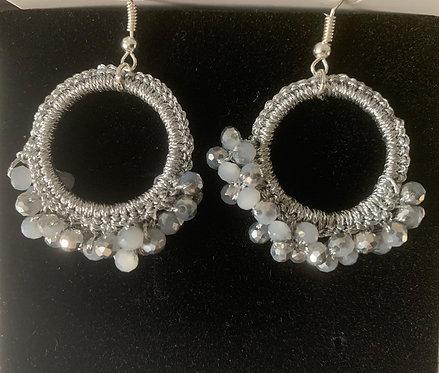 Hoop Acrylic Drop Earrings