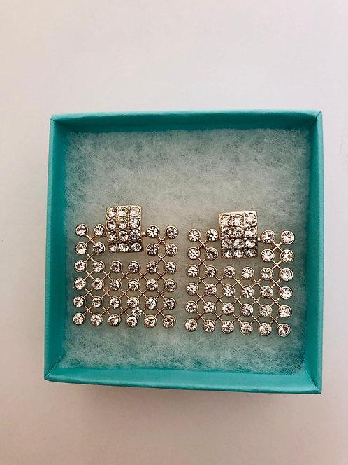 Crystal Elegant Square Earrings