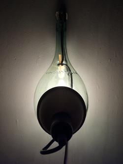lamp / wijnfles