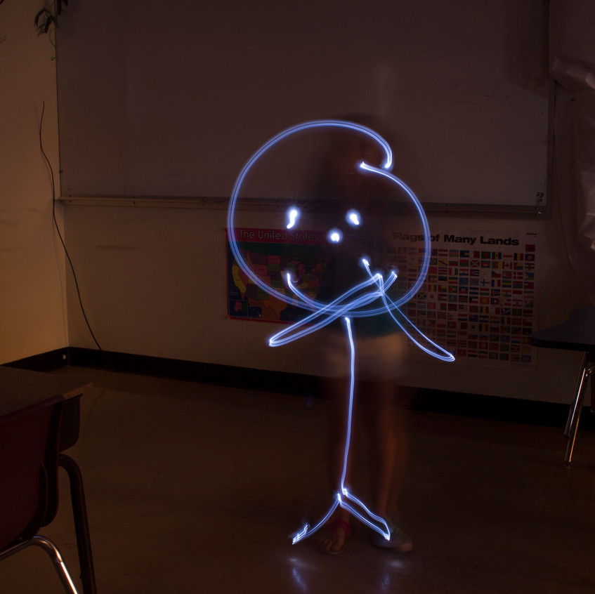SupDup Light Painting Stick Figure