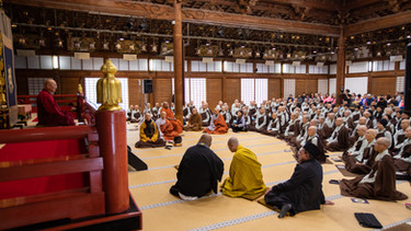 The World Peace Conference where panelists form the Islamic faith and various schools of Buddhism share wisdom and practices that bring peace into the world.