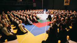 The highlight of the first World Peace Gathering in Japan: the Vairochana Mandala.