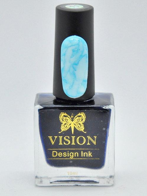 Aqua Blue Design Ink