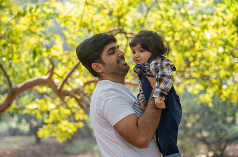 Aarush with Father