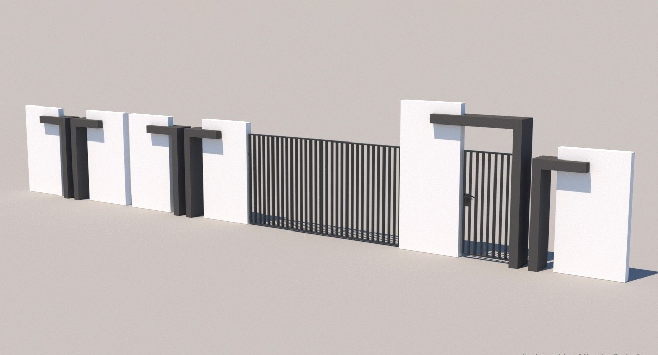 Gate and fences 0