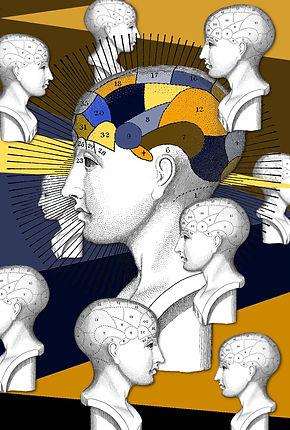 phrenology head surreal art