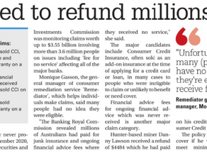 $4484 Refund Make The Papers in Newcastle!