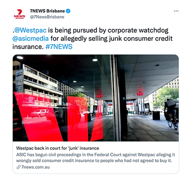Westpac back in cout for 'junk insurance'
