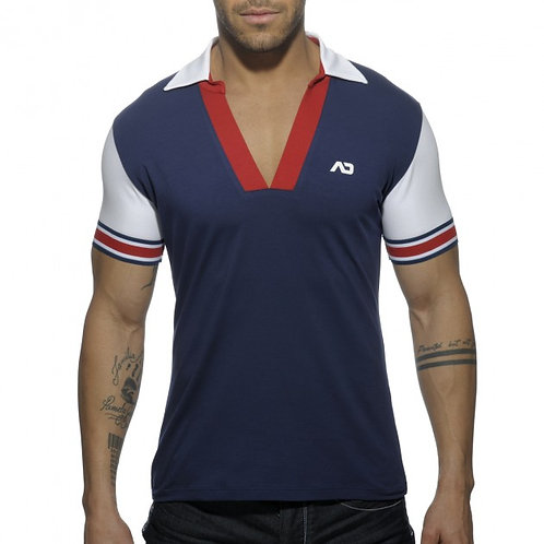 AD526 SLEEVE CONTRASTED POLO