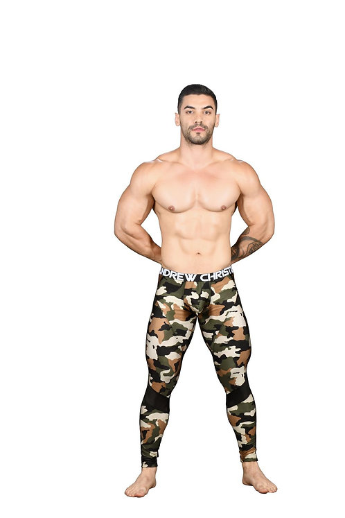 AC91497 Camouflage Mesh Legging w/ Almost Naked