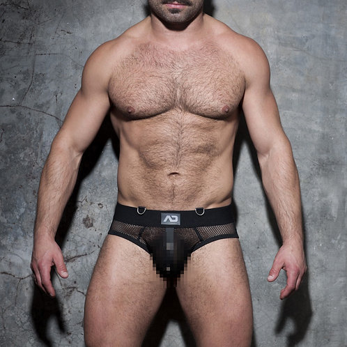 ADF77 MESH MIXED BOTTOMLESS BRIEF