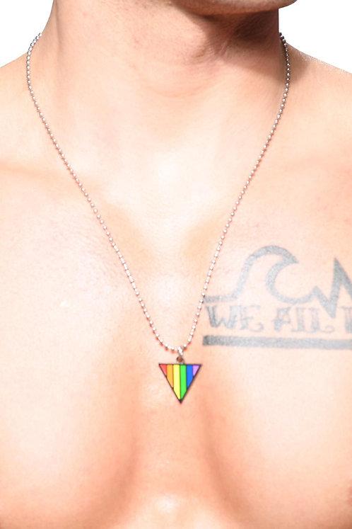 AC8461 Pride Triangle Necklace