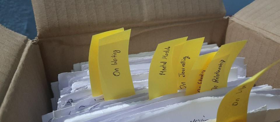 Overview of my semi-zettelkasten notetaking system