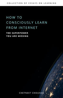 how to consciously learn from internet.j