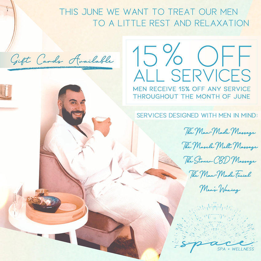 fathers day june spa promo men's massage men's facial men's waxing
