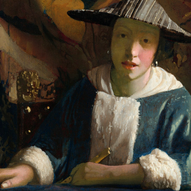 Girl with a Flute,  by Johannes Vermeer ca 1665-1675