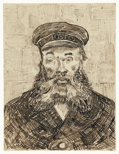 Portrait of Joseph Roulin (1888) by Vincent Van Gogh.