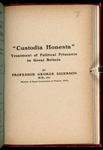 Treatment of political prisoners in Great Britain, With introduction by Henry W. Nevinson.Creator:   George Sigerson, Henry Woodd Nevinson. Public Domain