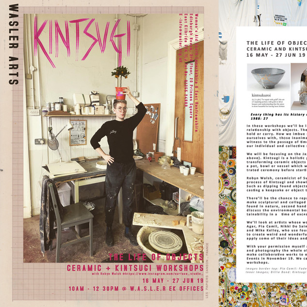 Kintsugi and The Life Of Objects Workshop Poster