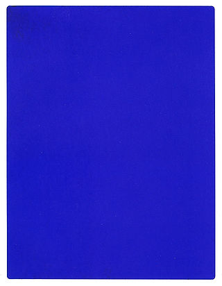 IKB 191, monochromatic painting by Yves Klein. A painting solely consisting of a very strong blue.