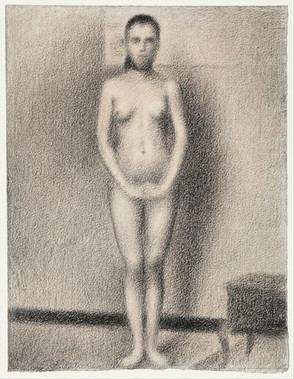 Study for Poseuses (ca. 1886–1887) by Georges Seurat. Original from The MET Museum. Digitally enhanced by rawpixel.
