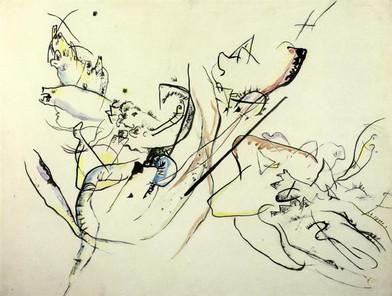 Untitled, Wassily Kandinsky Date: c.1915, Wikiart, Public domain