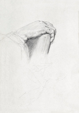The Hand of Poussin, After Ingres (ca. 1875–1877) by Georges Seurat